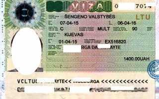 Анкета на визу в Литву: бланк, образец заполнения заявления, который можно скачать, выдача разрешения в посольстве туристу из России в страну Шенгенского союза